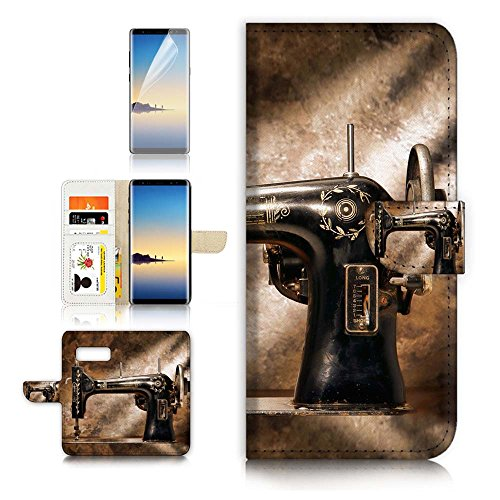( For Samsung Note 8 , Galaxy Note 8 ) Flip Wallet Case Cover & Screen Protector Bundle - A40136 Sewing Machine