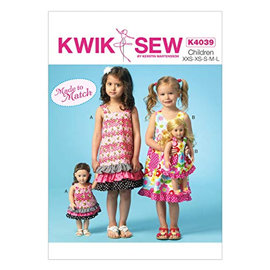 KWIK-SEW PATTERNS K4039 Girls'/Dolls' Jumpers