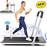 FUNMILY 2 in 1 Under Desk Folding Treadmill, 2.25HP Walking Jogging Running Machine for Home/Office/Gym Fitness, Built-in 5 Workout Modes & 12 Programs, Installation-Free (2020 New Model) Silver