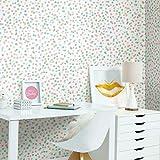 RoomMates - Papel pintado para pared, diseño de confeti, color rosa y azul