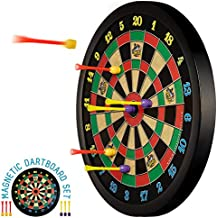 Doinkit Darts Kid-Safe Indoor Magnetic Dart Board - Easy to Hang, Fun to Play, No Holes in Walls, Includes Board and 6 Unique Magnetic Darts