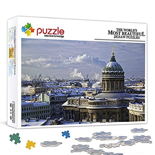 LLLTONG Puzzle da 500 Pezzi San PietroburgoPuzzle in Legno Puzzle Classico Gioco Poster, stimolante Regalo Fai da Te Decorazione murale Pittura 52x38cm