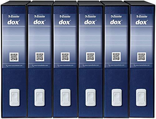 Rexel Dox Aktenordner (DIN A4 Inhalt) 6 Stück weiß Blau