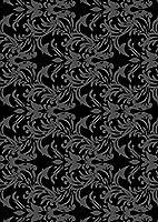igsticker ポスター ウォールステッカー シール式ステッカー 飾り 841×1189㎜ A0 写真 フォト 壁 インテリア おしゃれ 剥がせる wall sticker poster 000381 その他 ダマスク ビンテージ リーフ