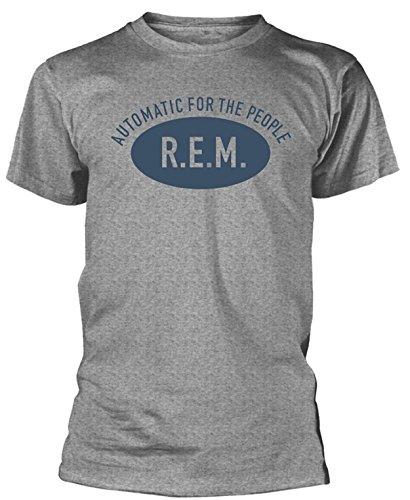 Plastic Head R.E.M Automatic for The People Mens Organic Grey T Shirt Grigio M