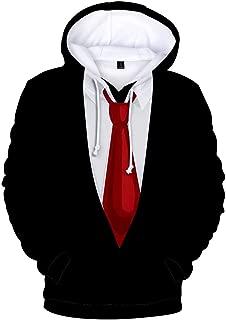 Stylish 3D Printed Tie Tuxedo Suit Men's Hoodie Party Wedding Sweatshirt Jacket