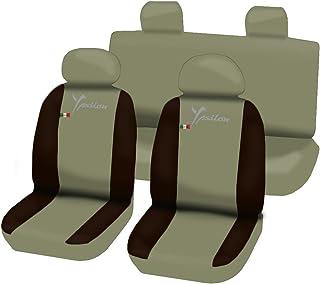 2003-2011 rmg-distribuzione 1801 Coprisedili per Lancia YPSILON compatibili con Modelli Colore Nero Grigio 2011-2018 1996-2003