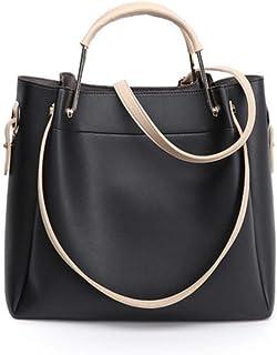 JeHouze 2 in 1 Fashion Women Genuine Leather Top Handle Handbag Shoulder Purse