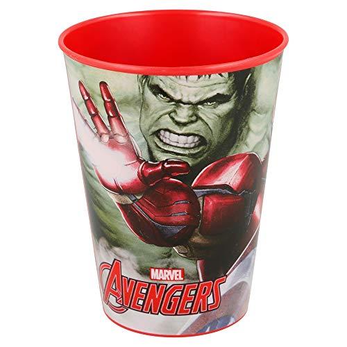 Los Vengadores (Avengers) Vaso plastico pequeño 260 ml (Stor 89707), color negro, Mediano