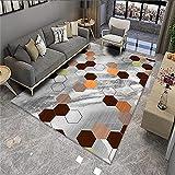 Alfombras Acusticas Alfombra Dormitorio Juvenil Color Gris Color Hexagon Pattern Hogar Moderno Puede ser Lavado Alfombra Suelo Escritorio 50x80cm