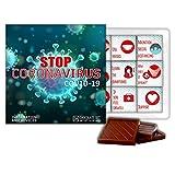 DA CHOCOLATE set STOP CORONAVIRUS COVID-19 1 box 13x13 cm (1261)