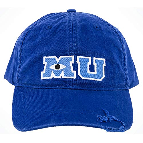 Concept One Disney's Pixar Monsters University Cotton Adjustable Baseball Hat with Curved Brim, Blue, One Size