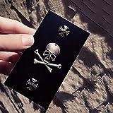 ALHJ Scatole di Sigarette con Elegante Disegno A Viticcio, Moda Metallo Portasigarette Donna,Black