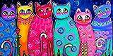 cuadros decoracion salon Pinturas coloridas de la lona de los gatos para los carteles e impresiones de la pared de la habitación de los niños Cuadros decorativos del arte pop imagen decoración del ho