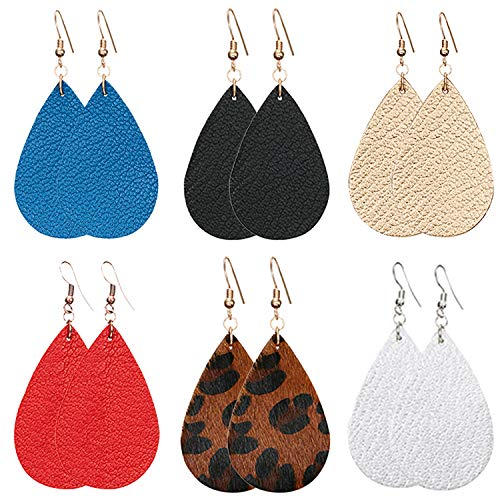 Leather Earrings Teardrop Leaf Petal Antique Lightweight Drop Earrings $6.75 (45% Off with code)