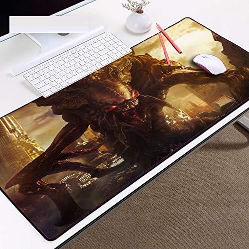 LIXB Almohadillas para ratón para el tapete de Mesa Estilo zurdo de Monstruo Alien Zerg para Juego de PC, 80 x 30cm