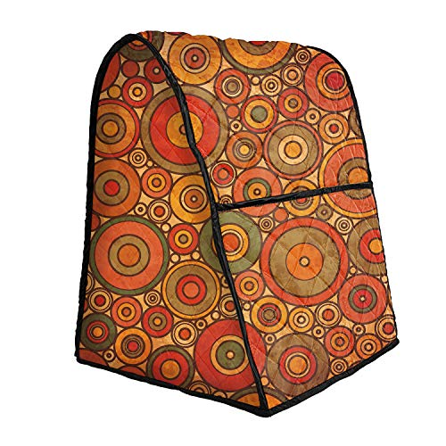 Stand Mixer Cover, Kitchen Blender Juicer Coffeemaker Cover, Food Mixer Dust Cover Kitchen Small Appliance Cover with Organizer Bag (Brown)