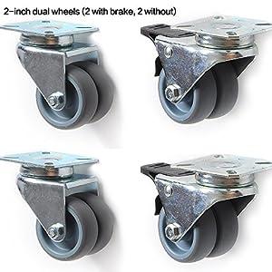 Anyke Pivotantes Ruedas Giratorias de Transporte para Carritos Muebles Ruedas para Sillas de Oficina 50mm (12 Piezas)