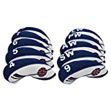 Golf Club Iron Head Covers Wedge Iron Protective Headcover with Golf White & Blue UK Flag Neoprene (Blue)