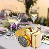 Fancystar 10PCS Hanging Compass Wedding Gift Candy Box Set Wedding Festive Pendant Candy