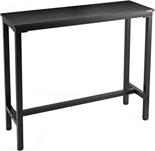 "Mr IRONSTONE Bar Table 47"" Pub Dining Height Table Bistro Table with Black Textured Top (Indoor USE ONLY)"