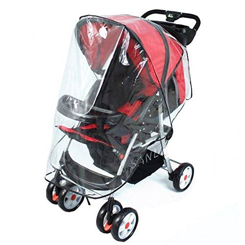 Newin Star - Protezione contro la pioggia, cappottina universale per carrozzine e passeggini, contro acqua e vento