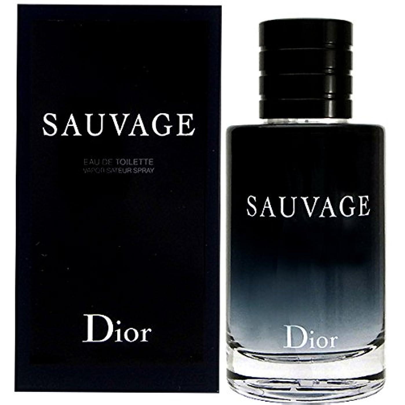 幾分欠陥ビュッフェクリスチャンディオール Christian Dior ソヴァージュ 100ml EDT オードトワレ メンズ(香水) [並行輸入品]