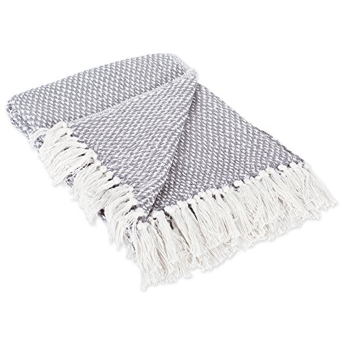 DII Transitional Woven Throw, 50x60, Gray