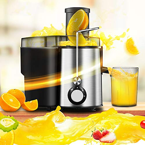 VBARV Centrifugal Juicer Machines, Juice Extractor for Whole Fruit and Vegetables, 2 Speed and Overheat Overload Protection, Anti-drip and Detachable Citrus Juicer