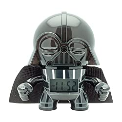 BulbBotz Star Wars 2020183 Darth Vader Kids Light up Alarm Clock | Black/Gray | Plastic | 3.5 inches Tall | LCD Display | boy Girl | Official