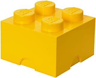 Brique de rangement LEGO 4 plots, Boîte de rangement empilable, 5,7 l, jaune