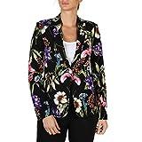 Guess Giacca Raquel Blazer Cappotto, Multicolore (Flower Charme Black Pza9), X-Small (Taglia Produttore:XS) Donna