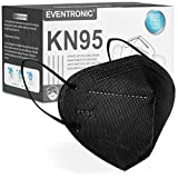 Eventronic- Mascarilla FFP2/KN95 5-Layer Protective Face Mask, CE Certified,Black (50pcs/Box, Each in Individual Pack)