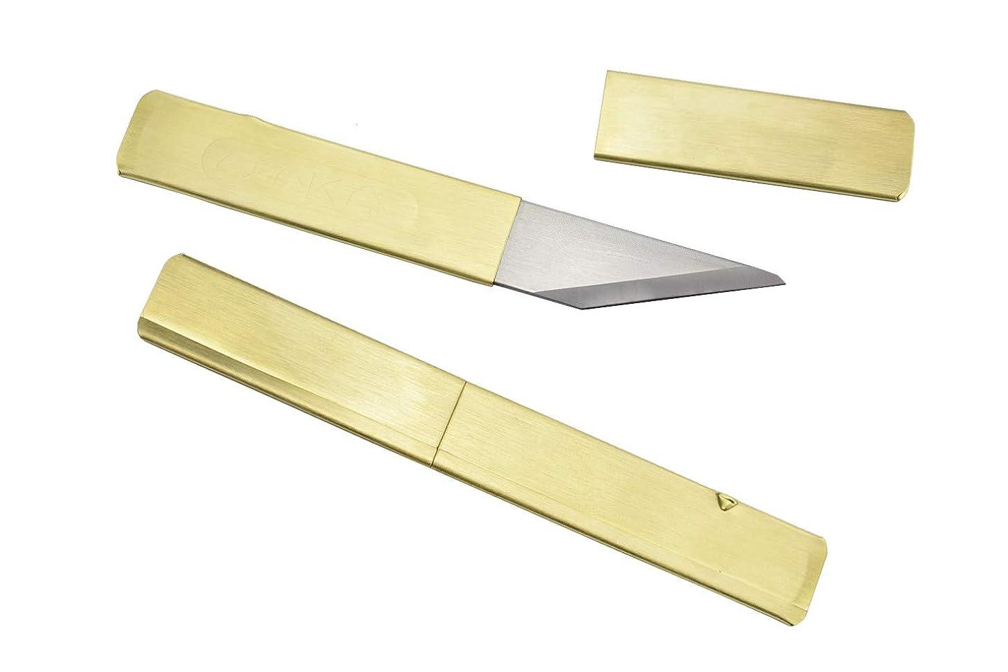 Right Hand/Wood Carving Japanese Kiridashi Knife/Brass (Japan Import)