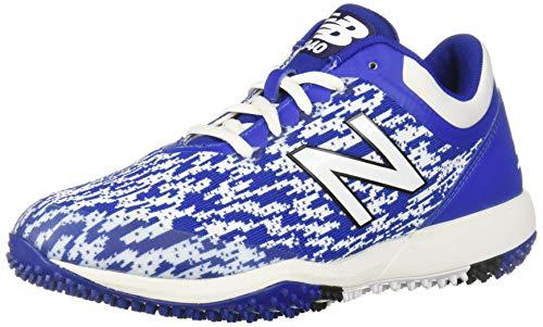 New Balance Men's 4040 V5 Turf Baseball Shoe, Royal/White, 10 M US
