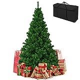 GEDEGOOK Árbol de Navidad Artificial,Soporte de Metal Plegable,Árbol de Navidad para Decoración Navideñ A en Interiores y Exteriores,con Bolsa de árbol de Navidad y 2 Pares de Guantes ,180cm