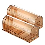 TOPELEK Humane Mouse Trap 2 Pack, Reusable Rodent Trap 20cm Large, Mice Catcher