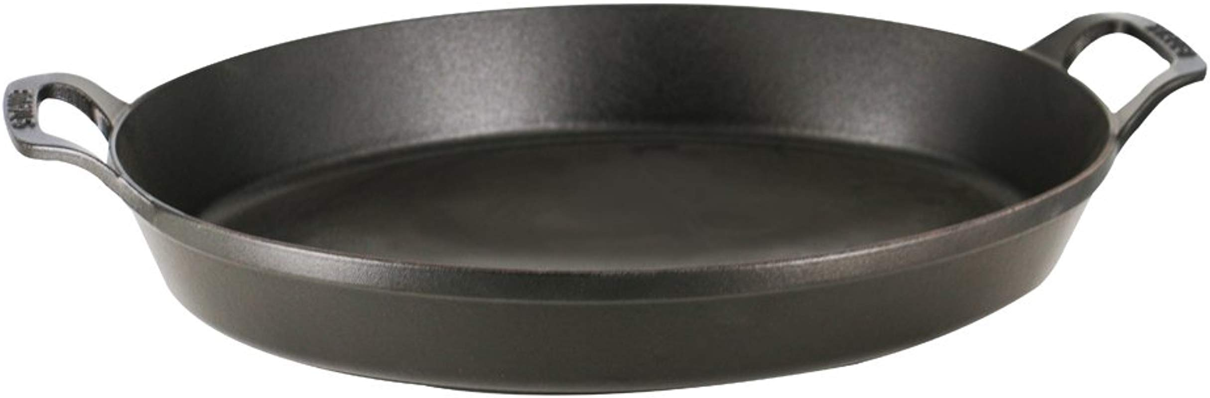 Staub 13003725 Cast Iron Oval Baking Dish 14 5x11 2 Inch Matte Black