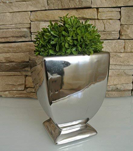E-X Schale/Vase/Pokal Argent ° Akzente Keramik° Silber Deko