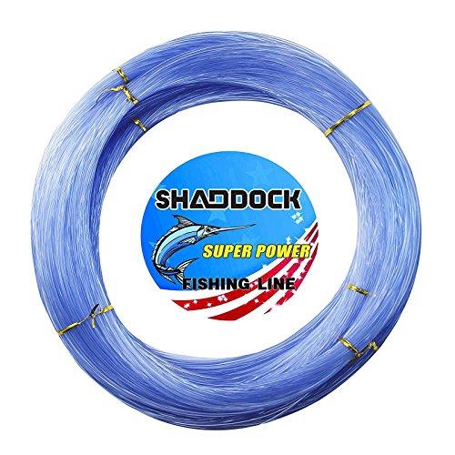 Shaddock Fishing Nylon Monofile Angelschnur Seil 500M 0,3mm-2,0mm Super Starke Nylon Monofil Speer Angelschnur Speargun Linie für Salzwasser/Süßwasser Angeln(Blau,Wire Diameter:1.0MM)