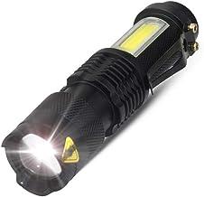 SLKHWYD Portable Outdoor LED Flashlight Powerful Portable Zoom Torch Mini Black Aluminum Alloy Flash Light Waterproof 4 Mo...