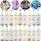 Tulpen-Batik-Set, Hemdstofffarbe mit Gummibändern, Tischdecken für Familie und Freunde, Sommerparty-Zubehör, 12 Farben Gr. One size, 18 Farben