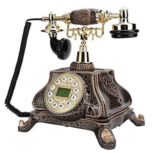 Socobeta Teléfono antiguo número de teléfono re‑dial, para el hotel, para el hogar, para la decoración