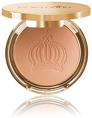 Harald Glööckler Pompöös Cosmetics Puder dunkel Kompaktpuder mit Puderquaste Make-up Teint Pressed Powder Nr. 04 Golden 9 g