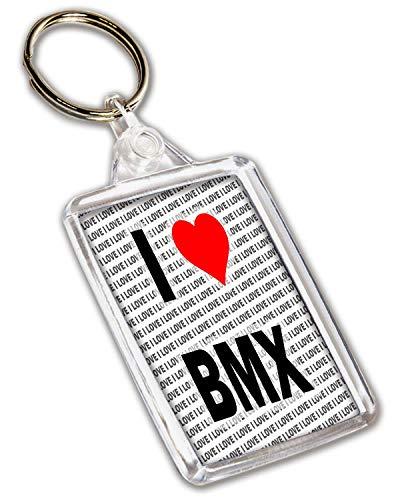 I Love BMX portachiavi–regalo–Compleanno–Natale–calza della Befana