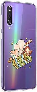 Oihxse Compatible con Huawei Honor 8X MAX Silicona Funda Transparente Gel TPU Flexible Protectora Carcasa Dibujos Elefante Patrón Ultra Thin Estuche Cover Case(D7)