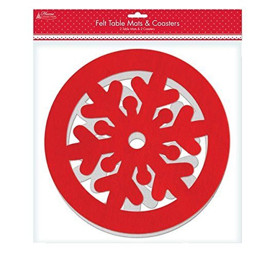 Anker Christmas Felt Table Mats and Coasters by