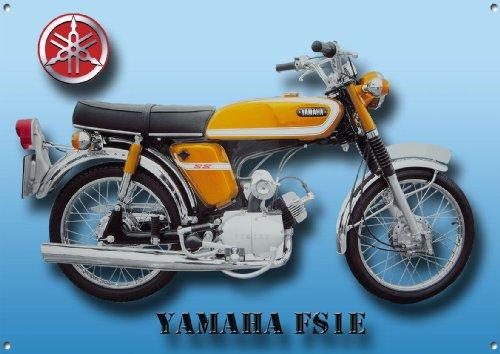 YAMAHA FS1E MOTORCYCLE METAL SIGN.