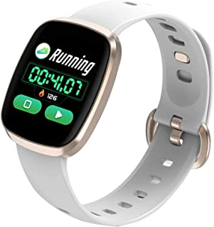 HEMOBLLO Smart Watch Band Heart Rate Monitor Full Screen Touch Smart Wristband with Health Sleep Activity Tracker(Champaign Gold)