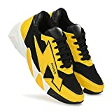 HarmeetSport Shoes Lightweight Breathable Athletic Gymwear Training Running Casual Walking Shoes for Men - Yellow
